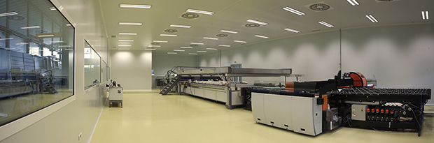 Ceiling panels for Purever Tech's cleanrooms